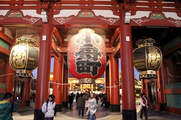 Sensoji Buddhist Temple in Tokyo